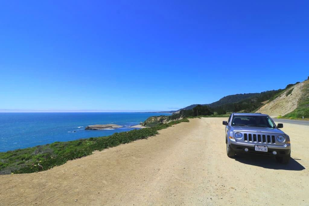 Highway 1 - Viewpoint - Auto - Meer