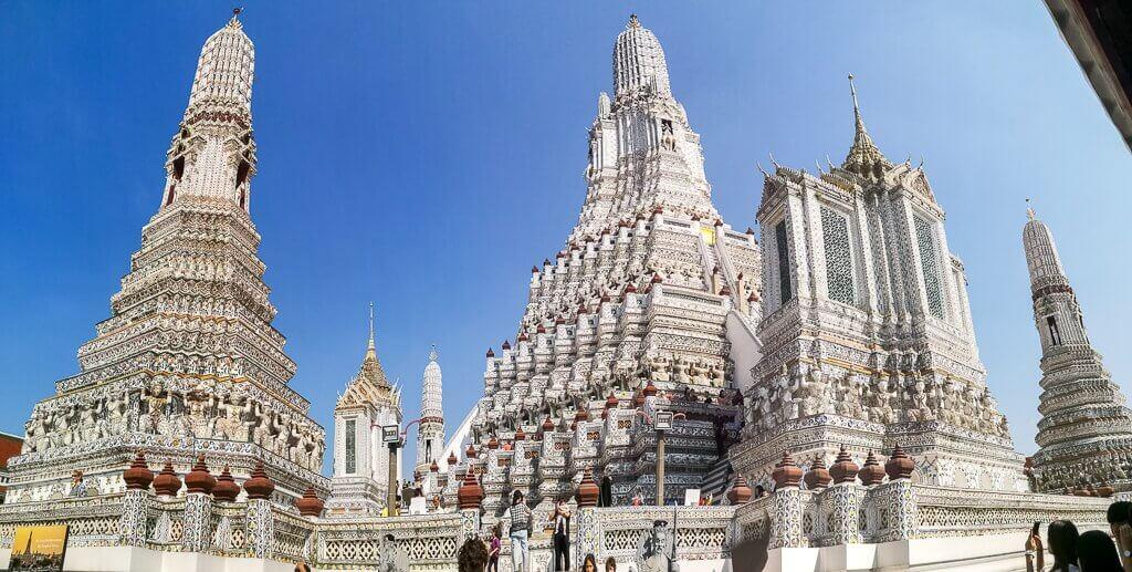 Wat Arun -Ansicht auf die Prangs
