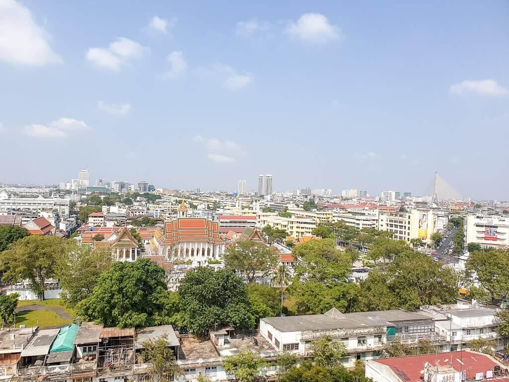 Aussicht auf Bangkok vom Golden Mount Temple