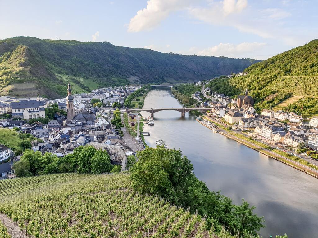Ausblick auf die Mosel und Cochem von der Reichsburg Cochem aus