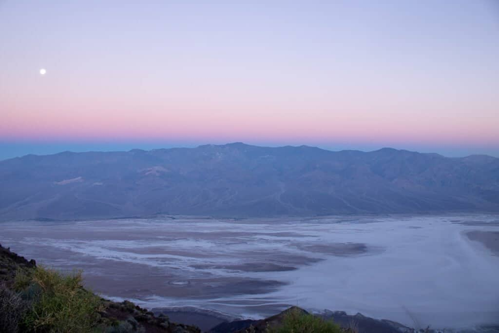 Death Valley - Dantes View - Sonnenaufgang
