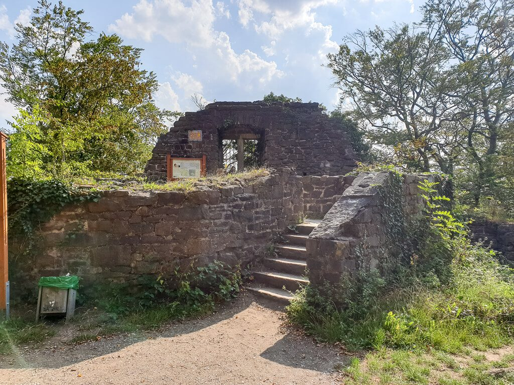 Ruine Neu-Isenburg mitten im Wald