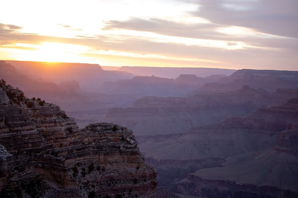 Grand Canyon Nationalpark - Sonnenuntergang am Hopi Point