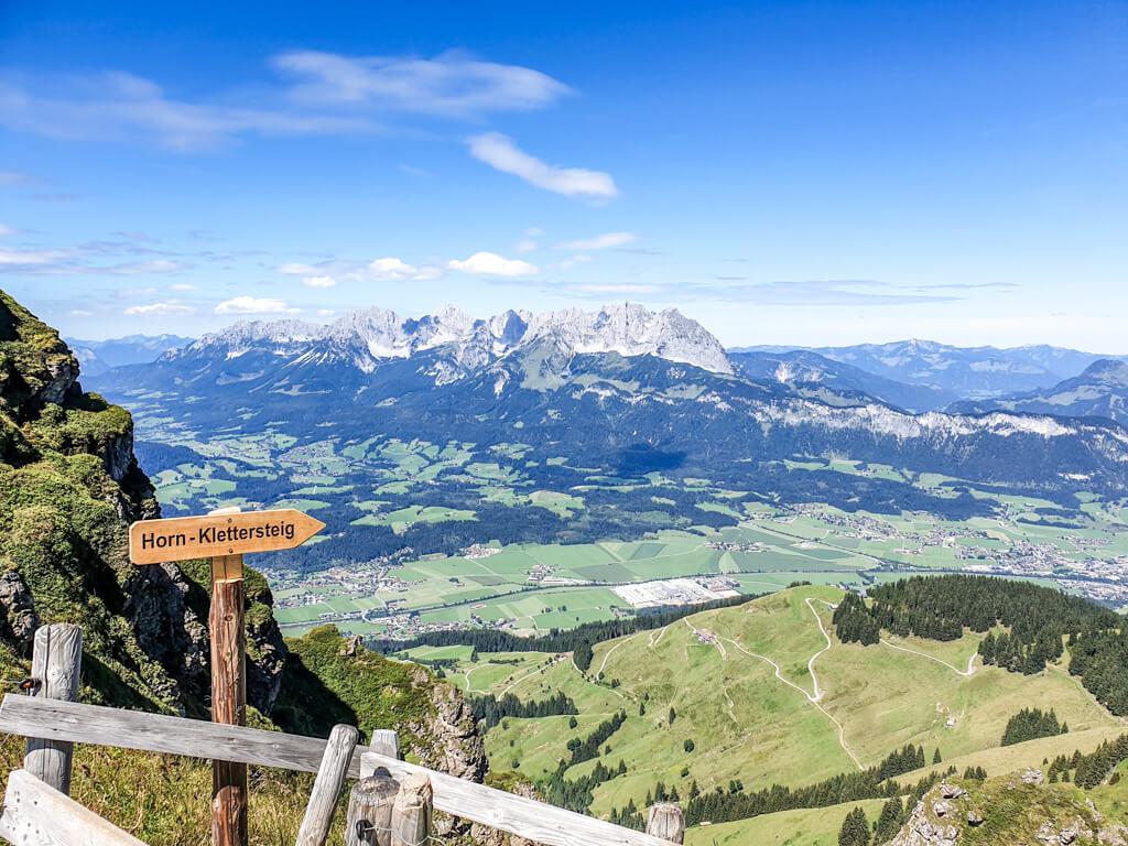 Klettersteig zum Kitzbüheler Horn mit Aussicht ins Tal