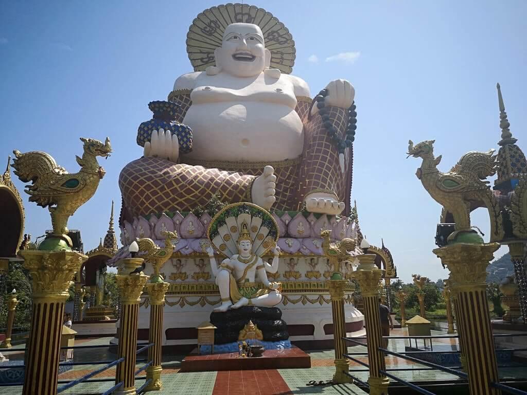 Wat Plai Laem Ko Samui - Statue von Budai
