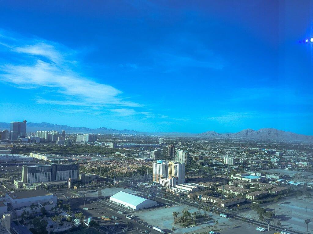 Las Vegas - Aussicht aus dem Hilton