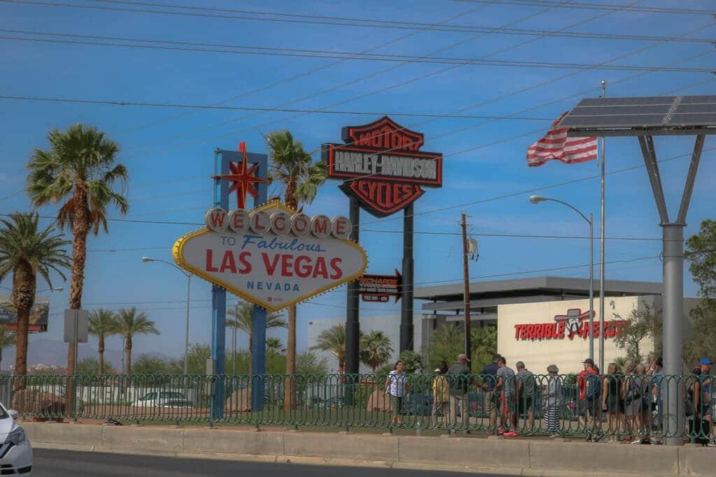 Las Vegas Sign von Vorne