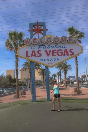 Las Vegas Sign mit CoRis Kleine Welt
