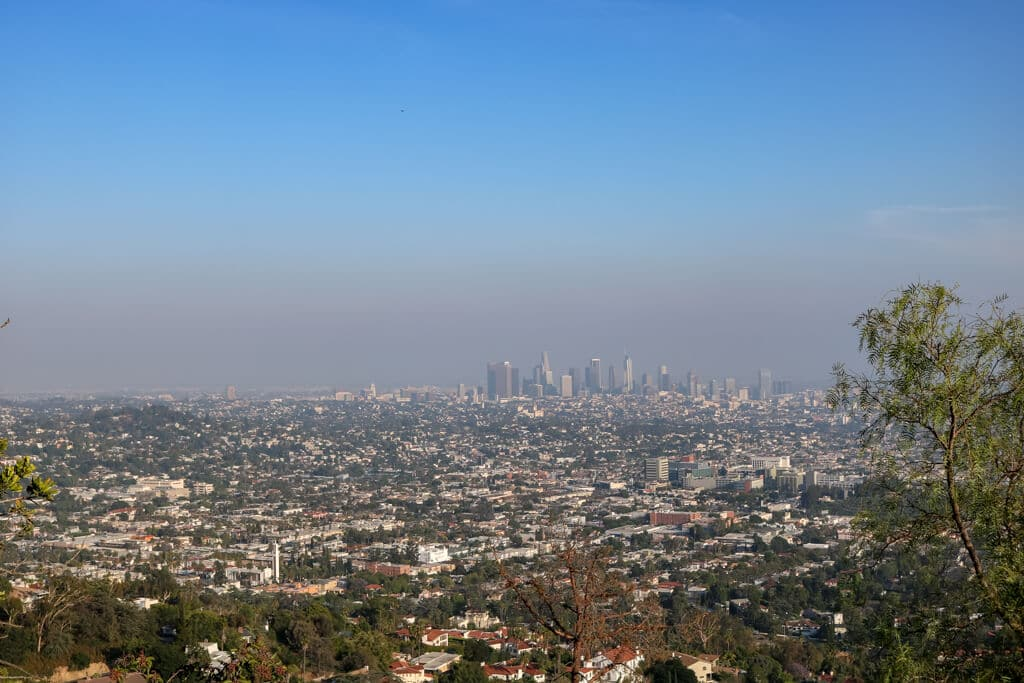Ausblick über Los Angeles