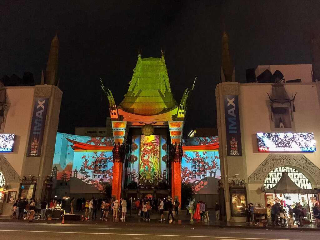 Los Angeles - Hollywood - Chinese Theatre mit Lichtshow