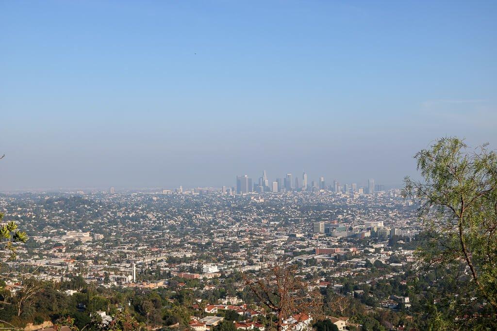 Los Angeles - Ausblick auf die Stadt vom Griffith Observatory