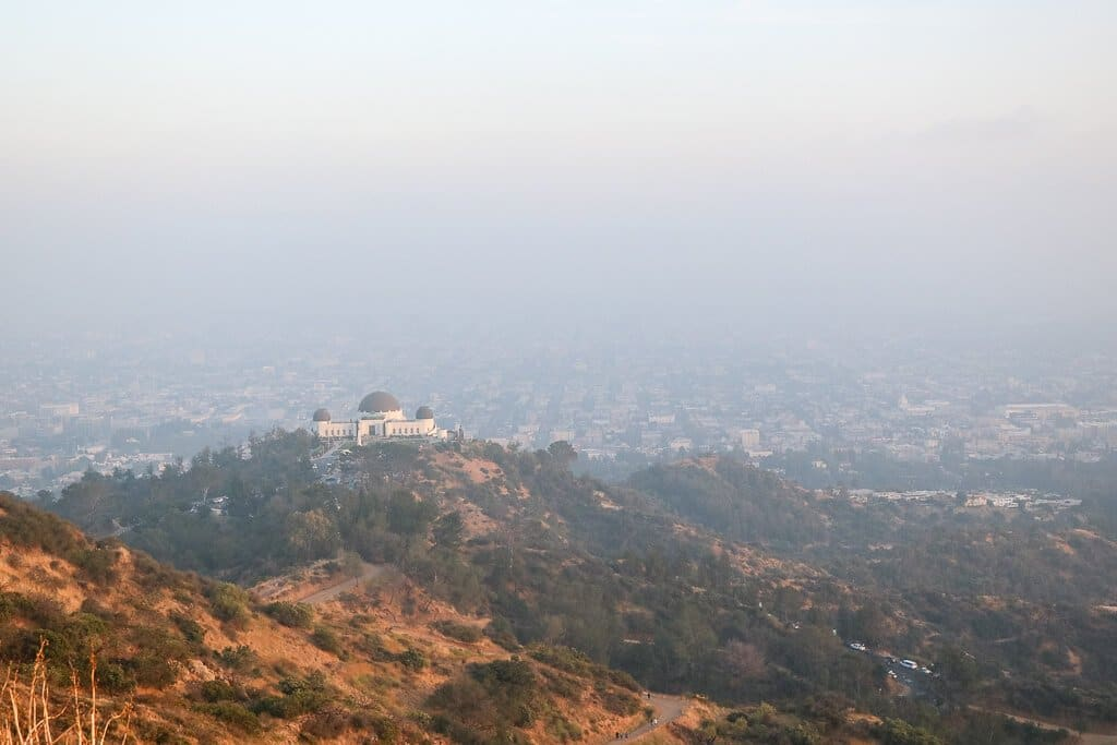 Los Angeles - Griffith Observatory und Blick auf LA