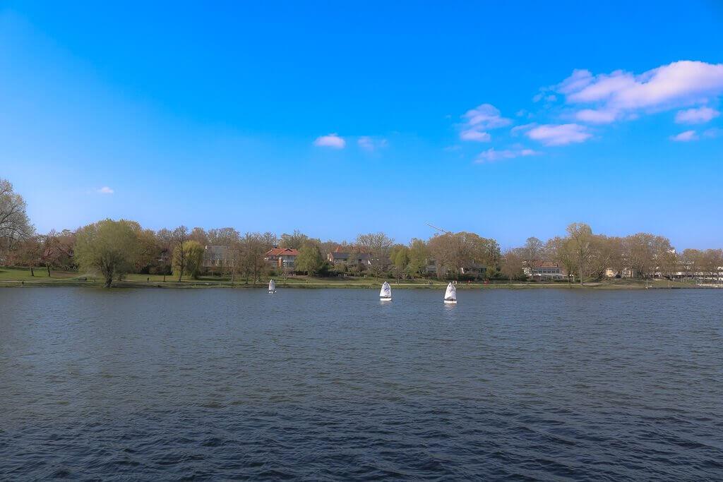 Münster - Aasee mit Segelbooten
