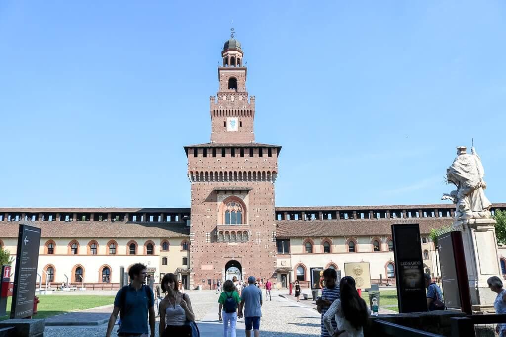 Turm am Castello Sforzesco