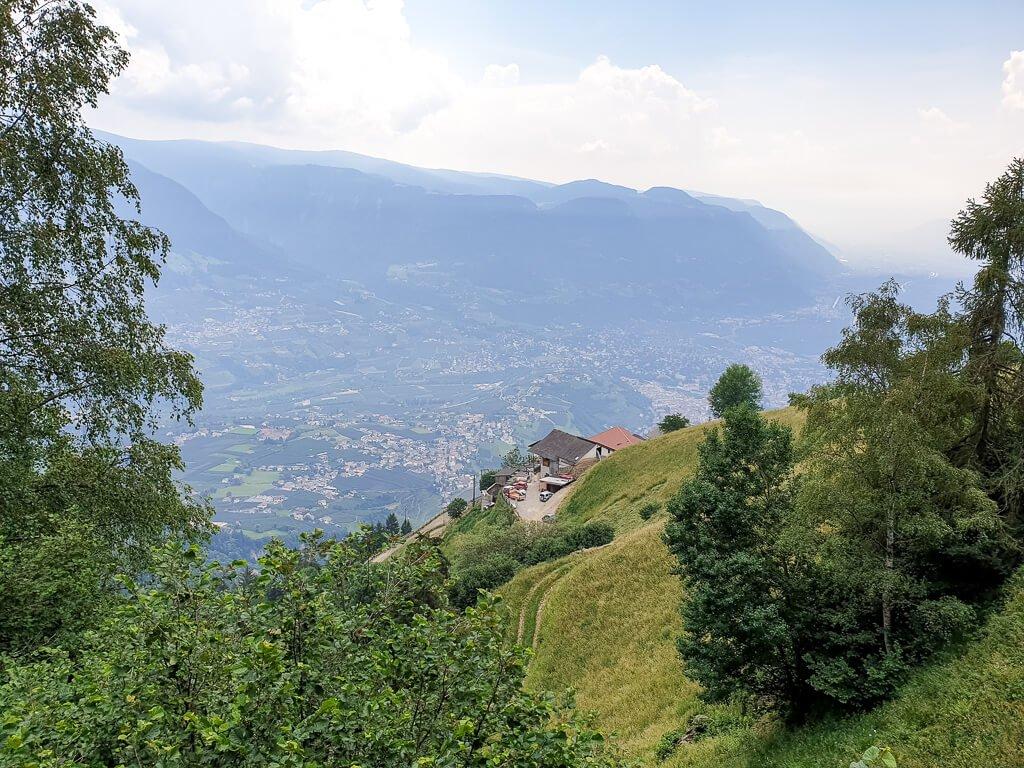Wanderung Mutkopf - Berge mit Wiese und Bäumen