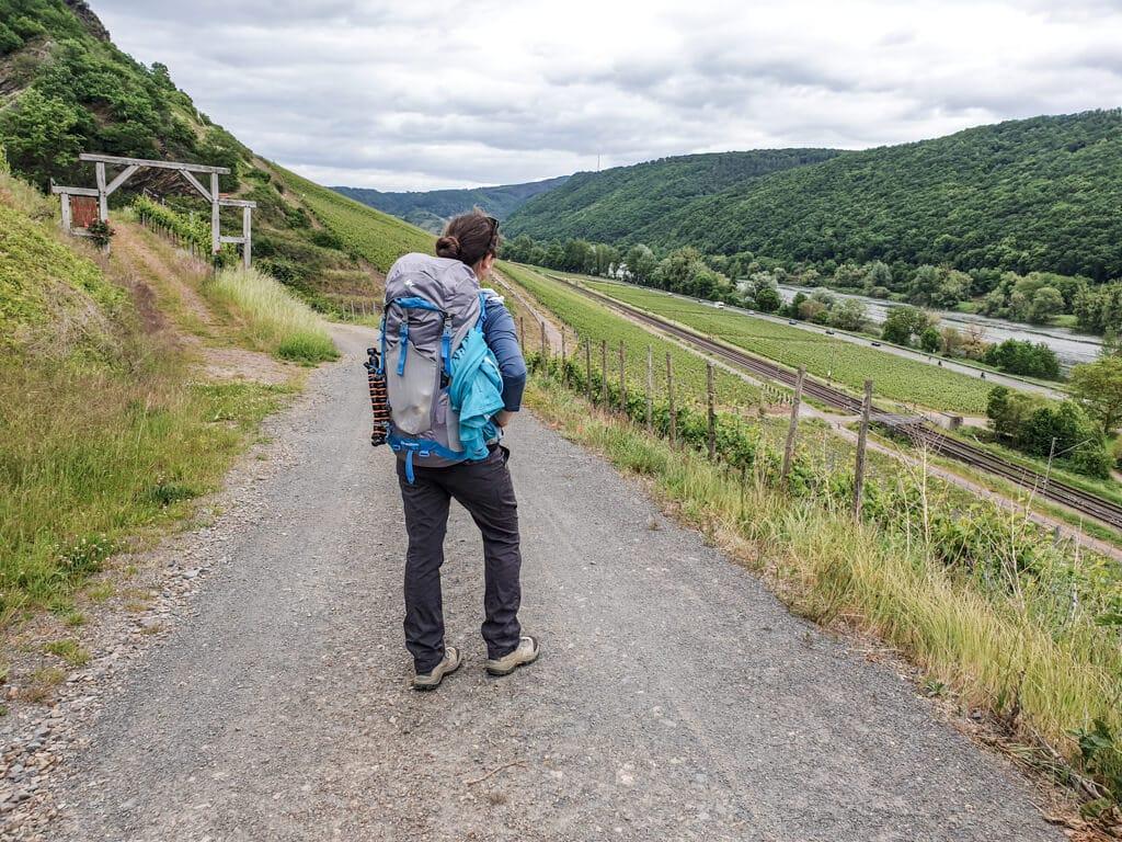 Wanderweg zwischen Weinbergen an der Mosel
