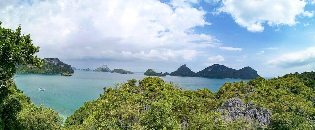 Blick über den Ang Thong Marine Nationalpark