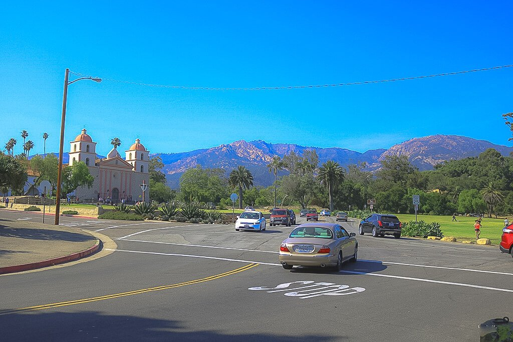 Santa Barbara - Old Mission - Straßenkreuzung