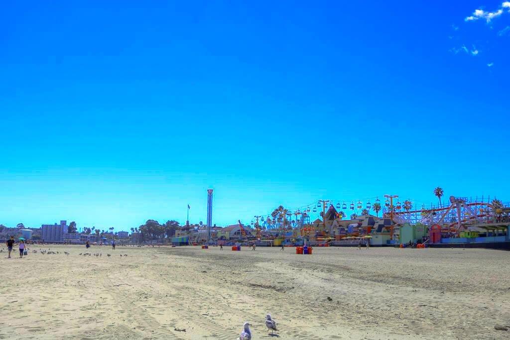 Santa Cruz Beach Boardwalk - Strand - Kirmes