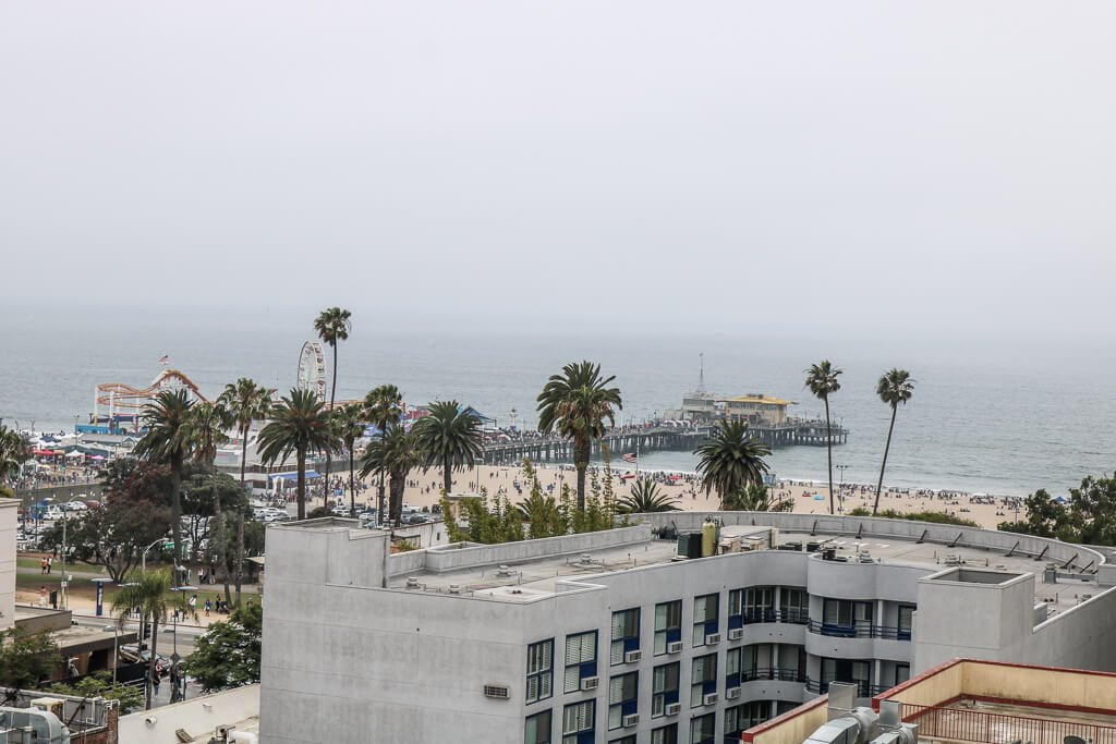Santa Monica - Ausblick zum Pier