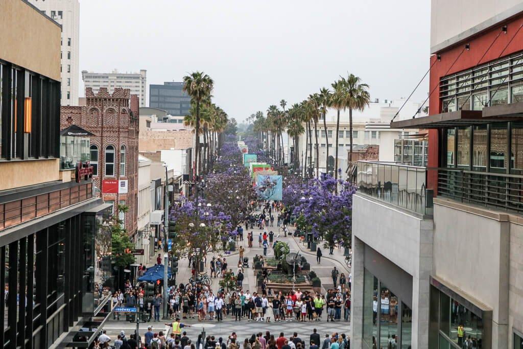 Santa Monica - Fußgängerzone von oben