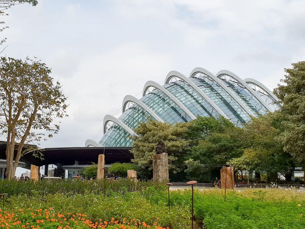 Gewächshaus Cloud Forest in Singapur