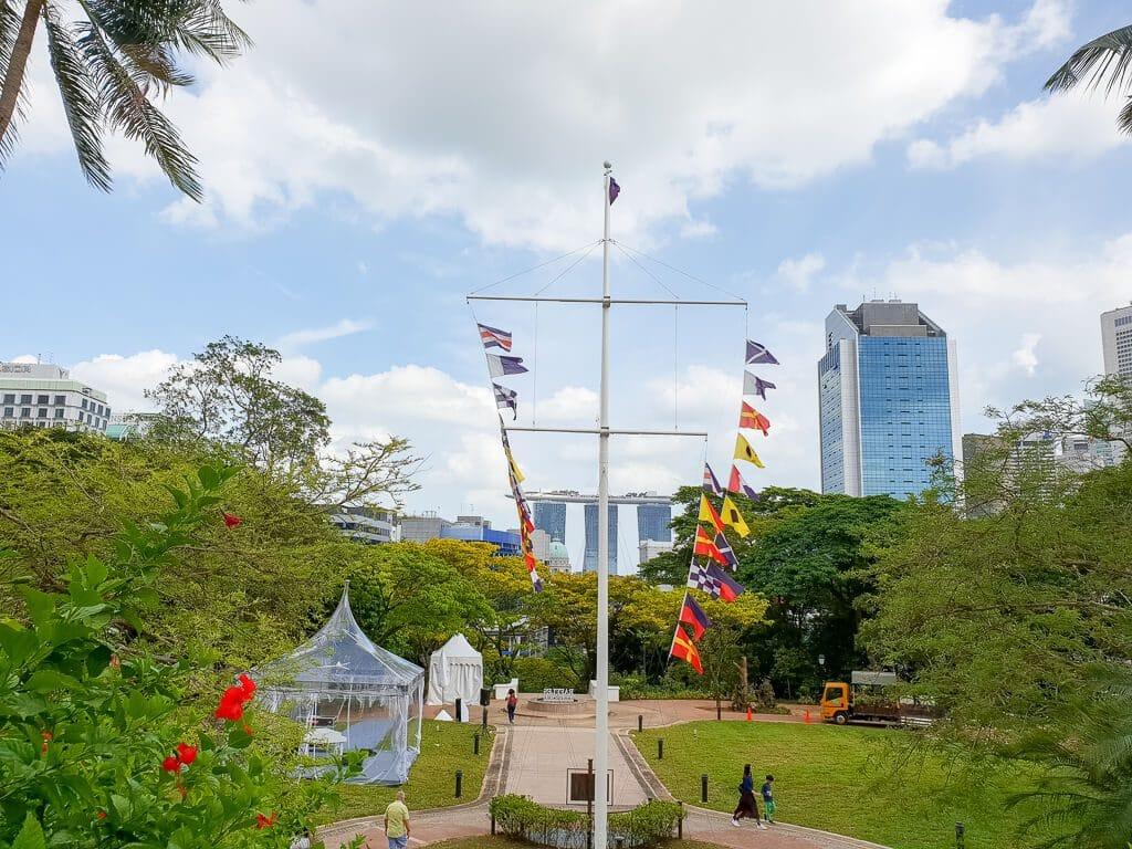 Aussicht auf das Marina Bay Sands