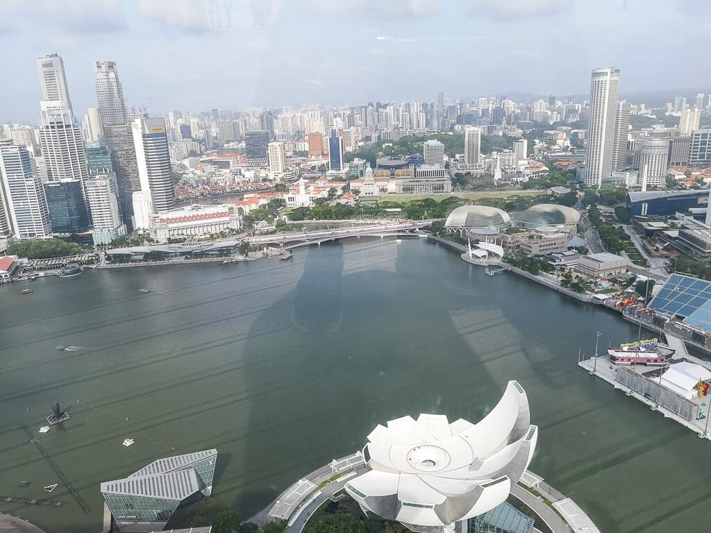 Marina Bay von oben