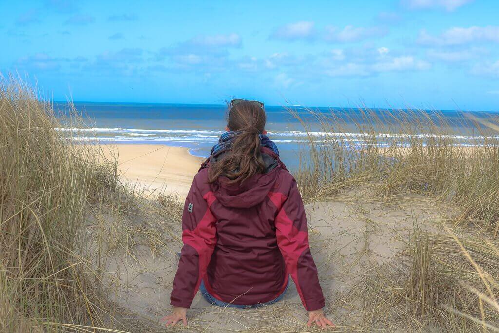 Texel - De Slufter - Dünen mit Blick auf das Meer