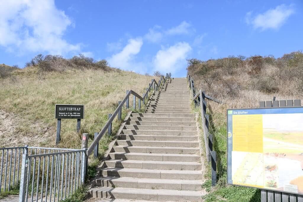 Texel - Treppe ins De Slufter