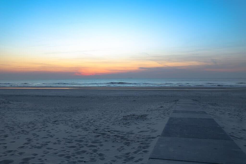 Texel - Strand bei Sonnenuntergang