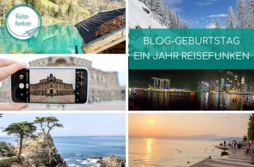 Collage mit verschiedenen Reisebildern