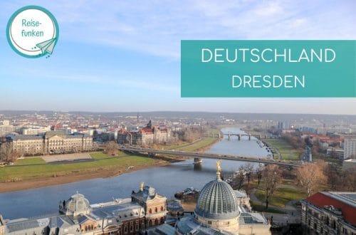 Ausblick über die Elbe in Dresden