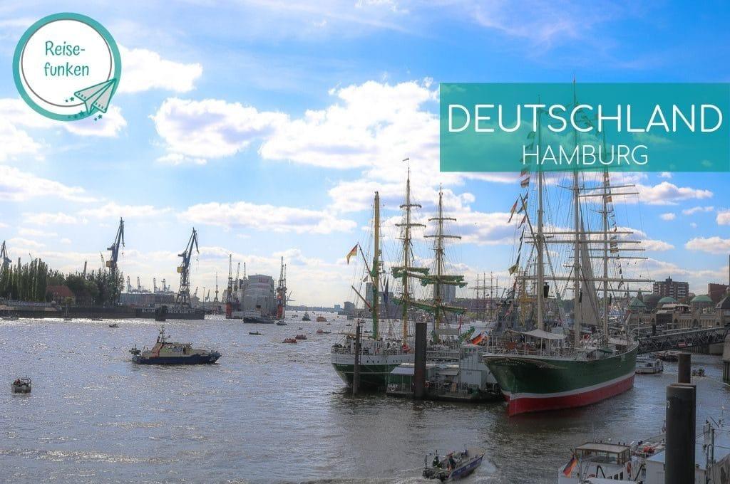 Segelschiffe im Hamburger Hafen
