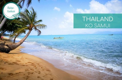 Strand mit Palmen und Meer auf Ko Samui