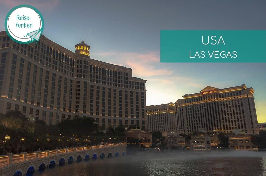 Las Vegas - Bellagio - Hotelkomplex mit See an der Front