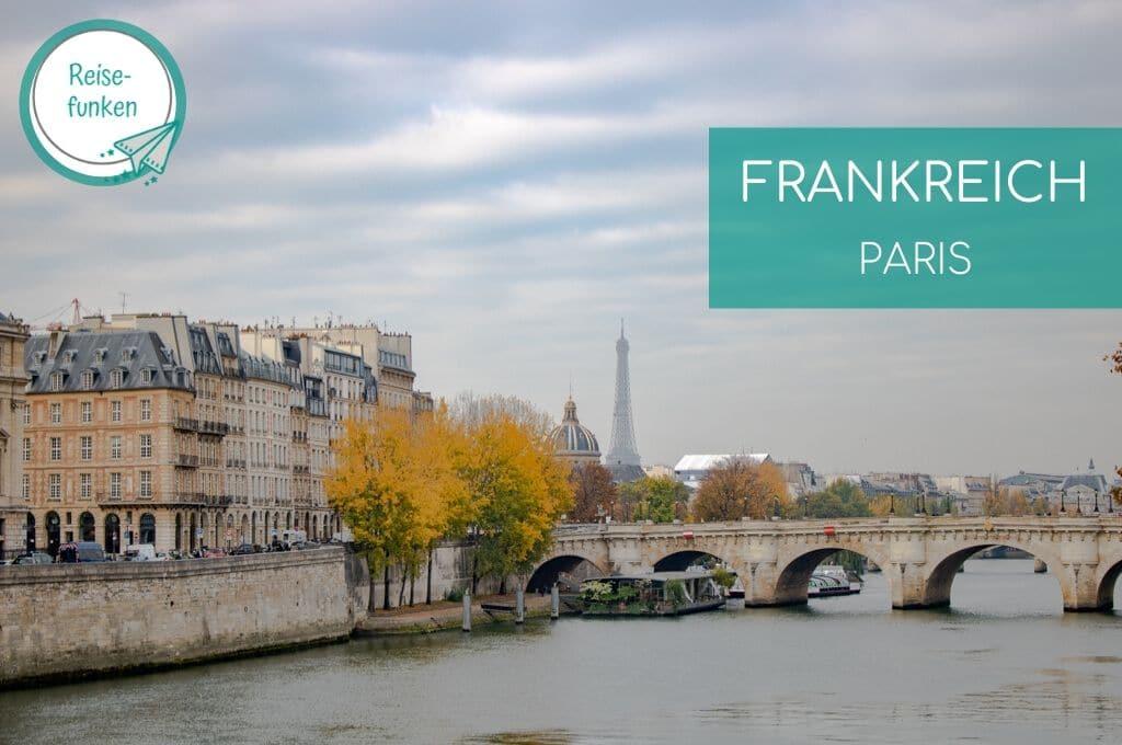 Blick über die Seine bis zum Eiffelturm