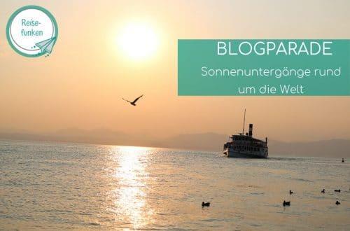 Sonnenuntergang über dem Gardasee mit einem Boot und Möwen