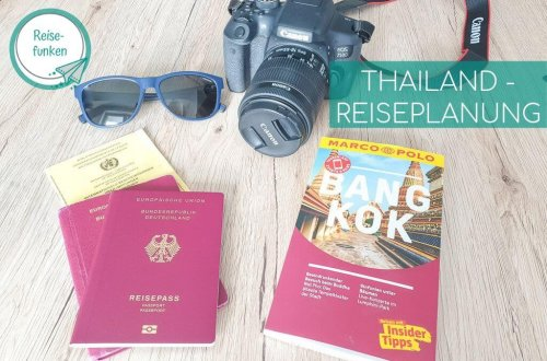 Thailand - Bangkok Reiseführer; Reisepässe, Kamera, Sonnenbrille